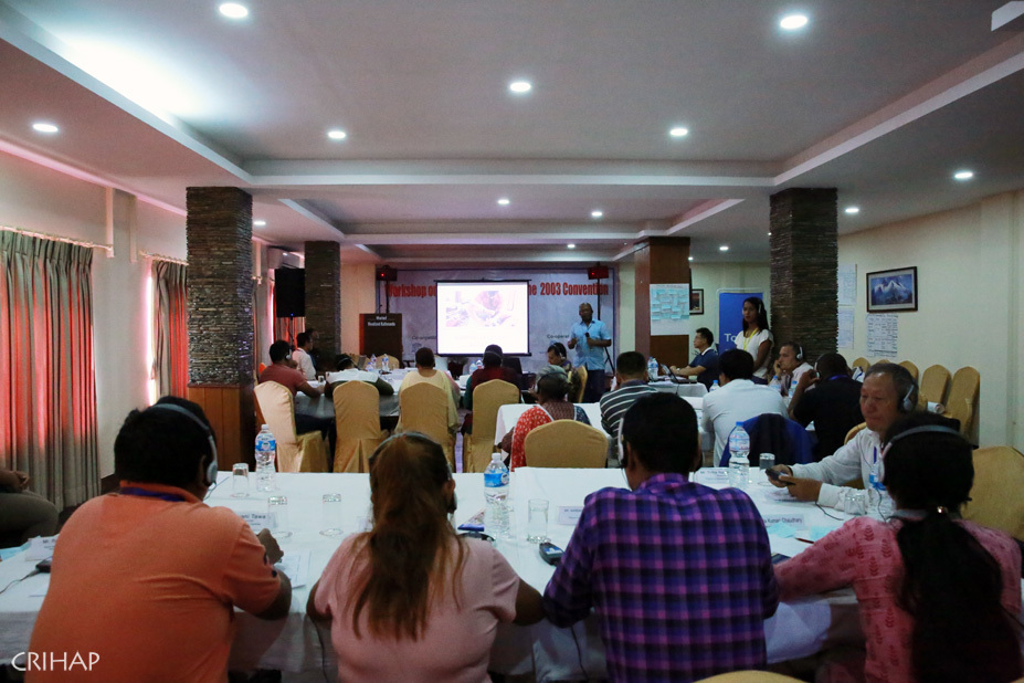 CRIHAP holds capacity building workshop on 2003 Convention in Nepal